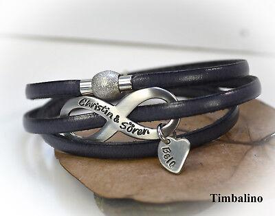 elarmband Edelstahl infinity, Armband personalisiert (Personalisierte Infinity Armband)