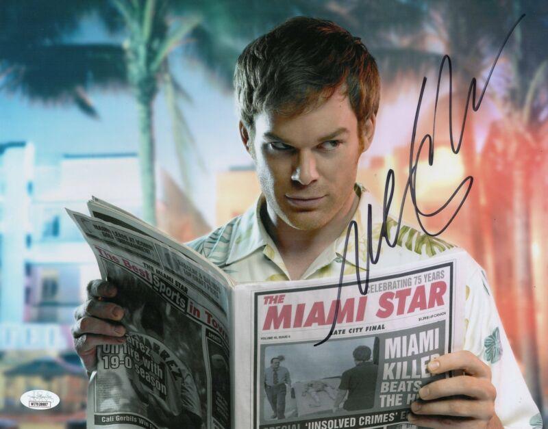 Michael C. Hall Autograph 11x14 Photo Dexter Signed JSA COA D16
