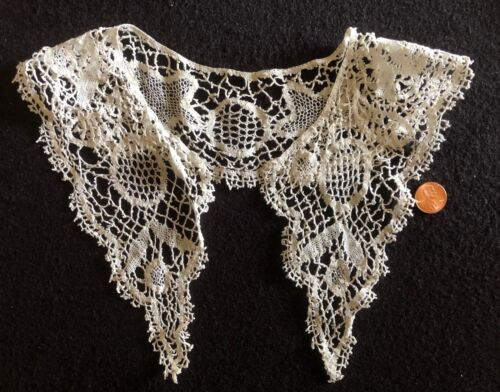 Vintage Bed/Cluny handmade bobbin lace - likely Colonial  COSTUME COLLECT