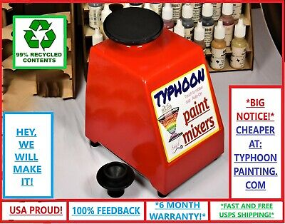 Typhoon Paint Mixer 2 Tops Hobby Gw Vallejo Army Painter Stirrer Shaker