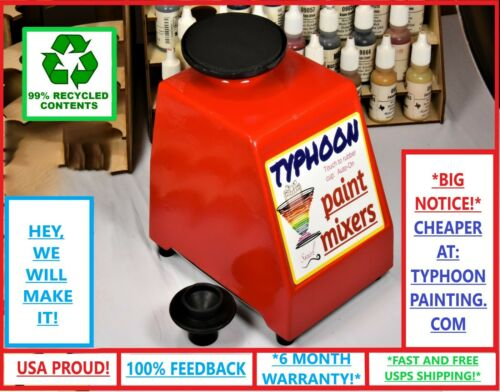 TYPHOON PAINT MIXER 2 TOPS HOBBY GW, VALLEJO, ARMY PAINTER STIRRER SHAKER