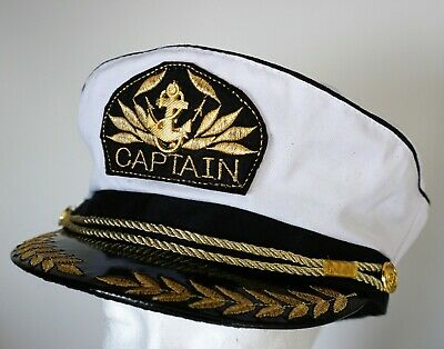 CAPTAIN HAT Unisex Captain Cap Skipper Sailor Boat Marine](Sailors Hat)