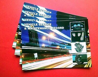 Vehicle Service Book - Blank History Log Maintenance Record Replacement. Car Van