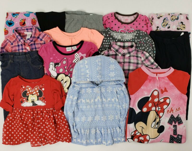 Girls Mixed Clothes Lot 3t Minnie Disney Carters Sweater Hoodie Leggings Fleece
