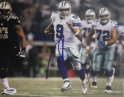 cfc184c8b Tony Romo Signed Autographed Dallas Cowboys 8x10 Photo CBS Psa Dna