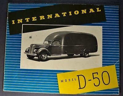 1937 International D-50 Truck Brochure Panel Van Dump Nice Original 37