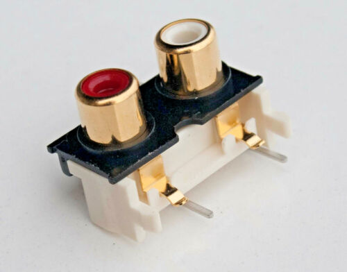 10 pcs PCB Mount Gold Plated RCA Female Jack Audio Connector Socket Stereo