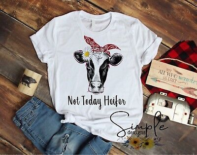 Cow Bandana (Not Today Heifer T-shirt, Cow With Bandana Shirt, Barnyard, Farm Cow Humor)