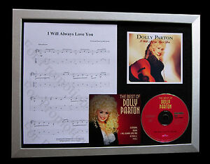 DOLLY-PARTON-Will-Always-Love-You-QUALITY-CD-FRAMED-DISPLAY-EXPRESS-GLOBAL-SHIP