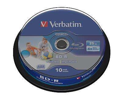 Verbatim Blue Ray BD-R SL Datalife 43804 25GB 6X 10-pack Jewel Case