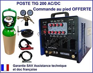 poste de soudure soudage tig 200 acdc hf inverter gaz argon d tendeur ebay. Black Bedroom Furniture Sets. Home Design Ideas