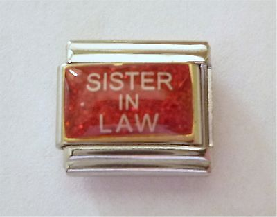 Italian Charms E91   Sister in Law Sister -In -Law