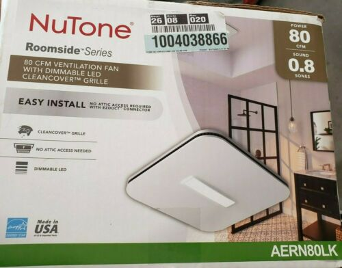 NuTone Bathroom Exhaust Fan 120-Volt LED Light Galvanized Steel Cover Square L