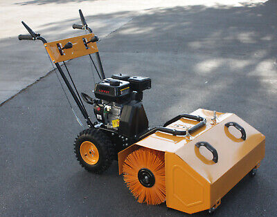 196cc 6.5hp Walk Behind Snow Lawn Turf Driveway Clean Sweeper Wdust Collector