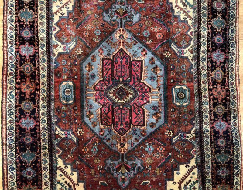 Terrific Tribal - 1940s Antique Oriental Rug - Nomadic Carpet - 4.4 X 6.8 Ft.