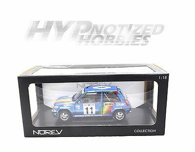NOREV 1:18 1990 RENAULT 5 GT TURBO RALLEY MONTE CARLO DIE-CAST BLUE 185204