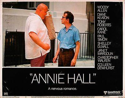 ANNIE HALL 1977 Woody Allen LOBBY CARD #8