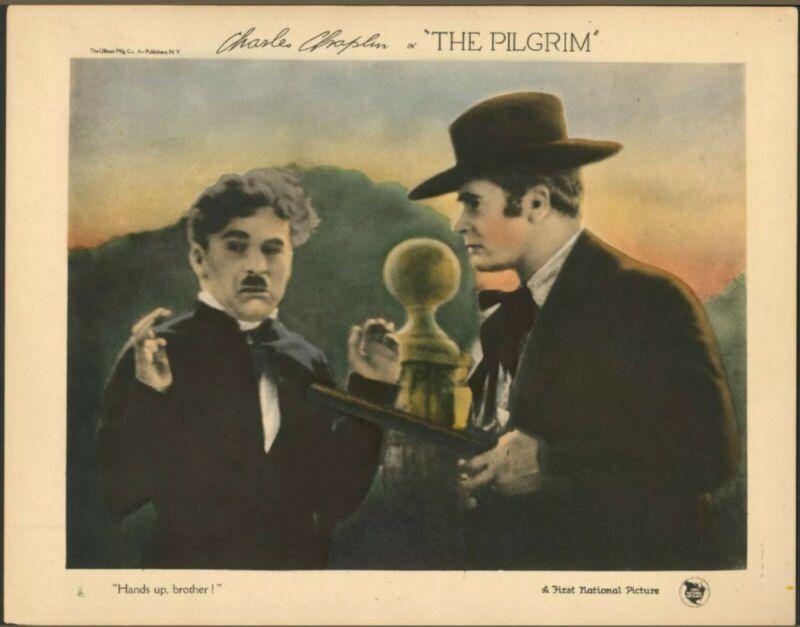The Pilgrim 1923 Charlie Chaplin Tom Murray Lobby Card
