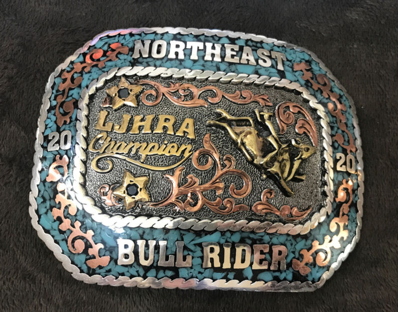 Trophy Rodeo Champion Belt Buckle Bull Rider Riding