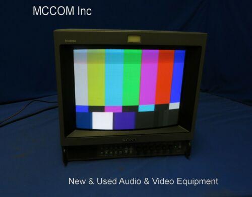 """Sony PVM-14M2U 14"""" RGB Retro Gaming Monitor w/ clear screen Read AD"""