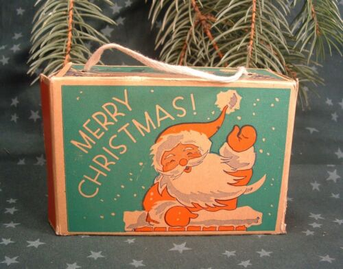 1910 Merry Christmas Holiday Santa Claus Empty Display Candy Box