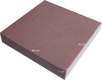 Kissen Kissen Stoff (Viscoschaumstoff Schaumstoff für Sitzkissen Bankkissen Stuhlkissen 40 x 40 x 7 )