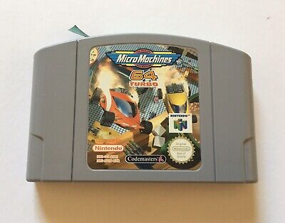 Micro Machines 64 Turbo ( N64, 1999) - Pal Version Cartridge Only Untested