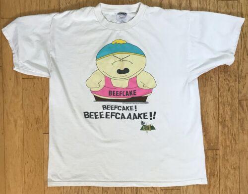 Vintage 1997 South Park Cartman Beefcake! 100% Cotton T Shirt ~ Men