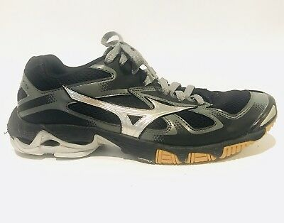 Mizuno Wave Bolt 5 Athletic Running Black Silver Lace Up Shoes Women's Size 9 for sale  Shipping to India
