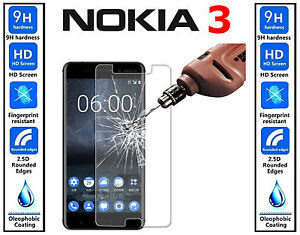Genuine-100-TEMPERED-GLASS-Invisible-Screen-Protector-For-Nokia-3