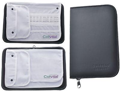 Colvital Instrumenten Etui mit Baumwoll-Inlay für 14 Instrumente  Fusspflege