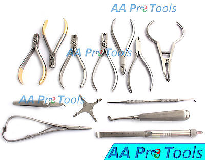 Set Of Orthodontic Instruments Of 13 Pieces - Stainless Steel - With Star Gauge