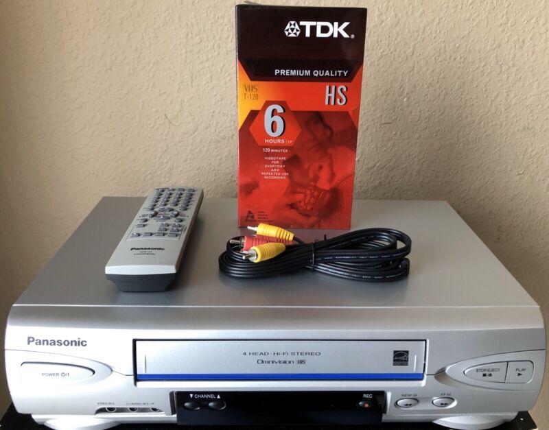 *SUPER CLEAN* Panasonic PV-4524S VCR VHS HiFi Stereo 4 Head Player Recorder👍
