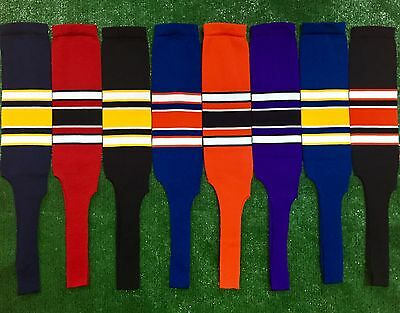 Baseball Softball Stirrups Socks with Stripes Various Colors (Mens Baseball Stirrups)