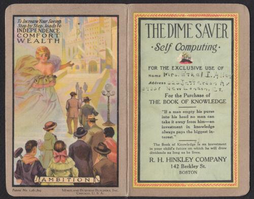 Vintage Dime Saver Book-R.H. Hinkley Co-Boston-MA-Promotional