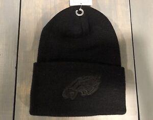 Licensed - NWT - Philadelphia Eagles Blackout Black Cuffed Beanie FREE S H  !! 23ca83456a9