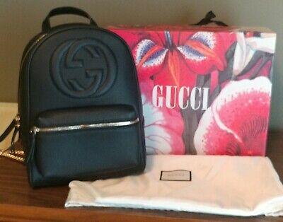 GUCCI Soho Black, Chain Backpack
