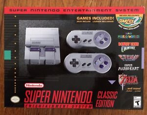 Super Nintendo Classic SNES Mini NEW + 21 Games Included