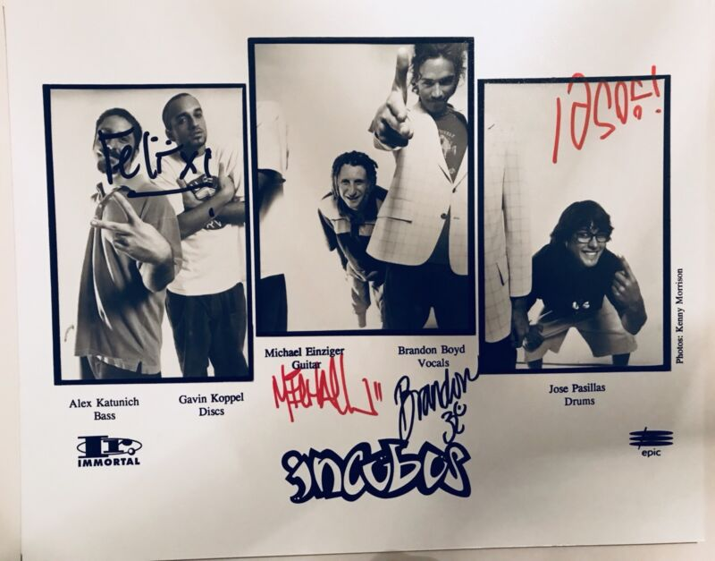 Incubus SIGNED 8x10 Promo Glossy