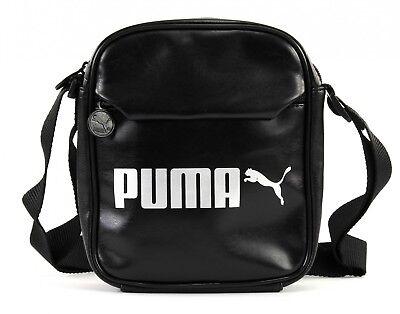 PUMA Campus Portable Umhängetasche Tasche Puma Black Schwarz Silber Neu