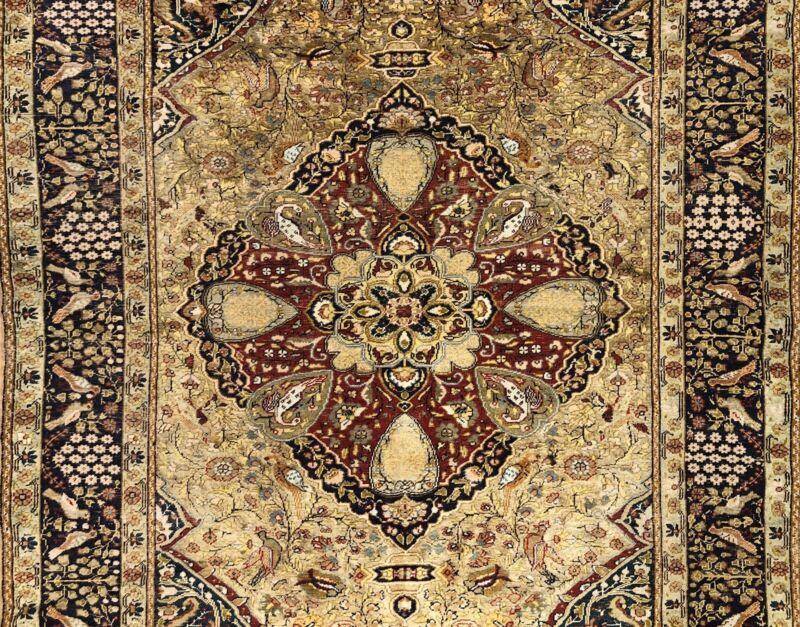 Terrific Turkish - 1900s Antique Kayseri Rug - Silk Oxidated Carpet 4.9 X 7.1 Ft