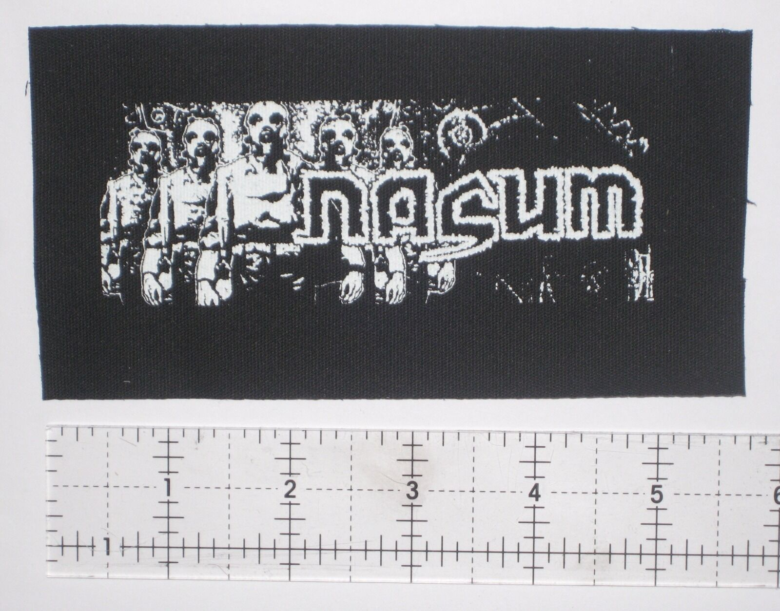 NASUM - DIY Crust Punk Patch Unholy Grave Despise you D-beat Hellnation Dropdead