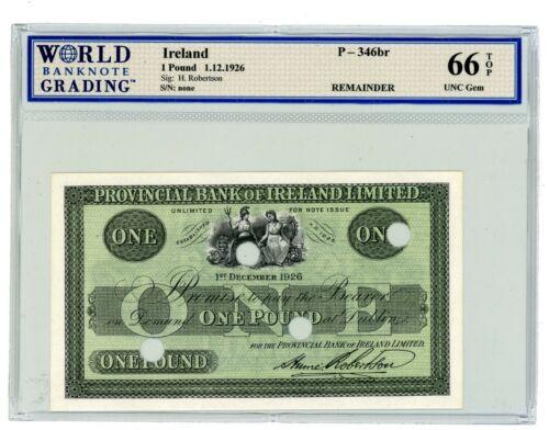Ireland ... P-346br ... 1 Pound ... 1.12.1926 ... Gem*UNC  *  WBG 66 Remeinder