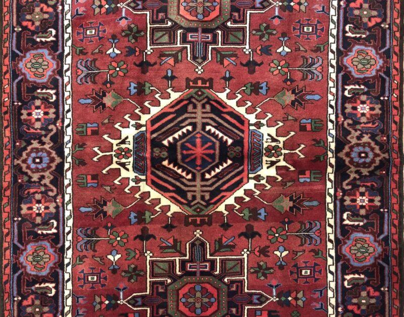 Tremendous Tribal - 1960s Antique Oriental Rug - Nomadic Carpet - 5 X 6.8 Ft.