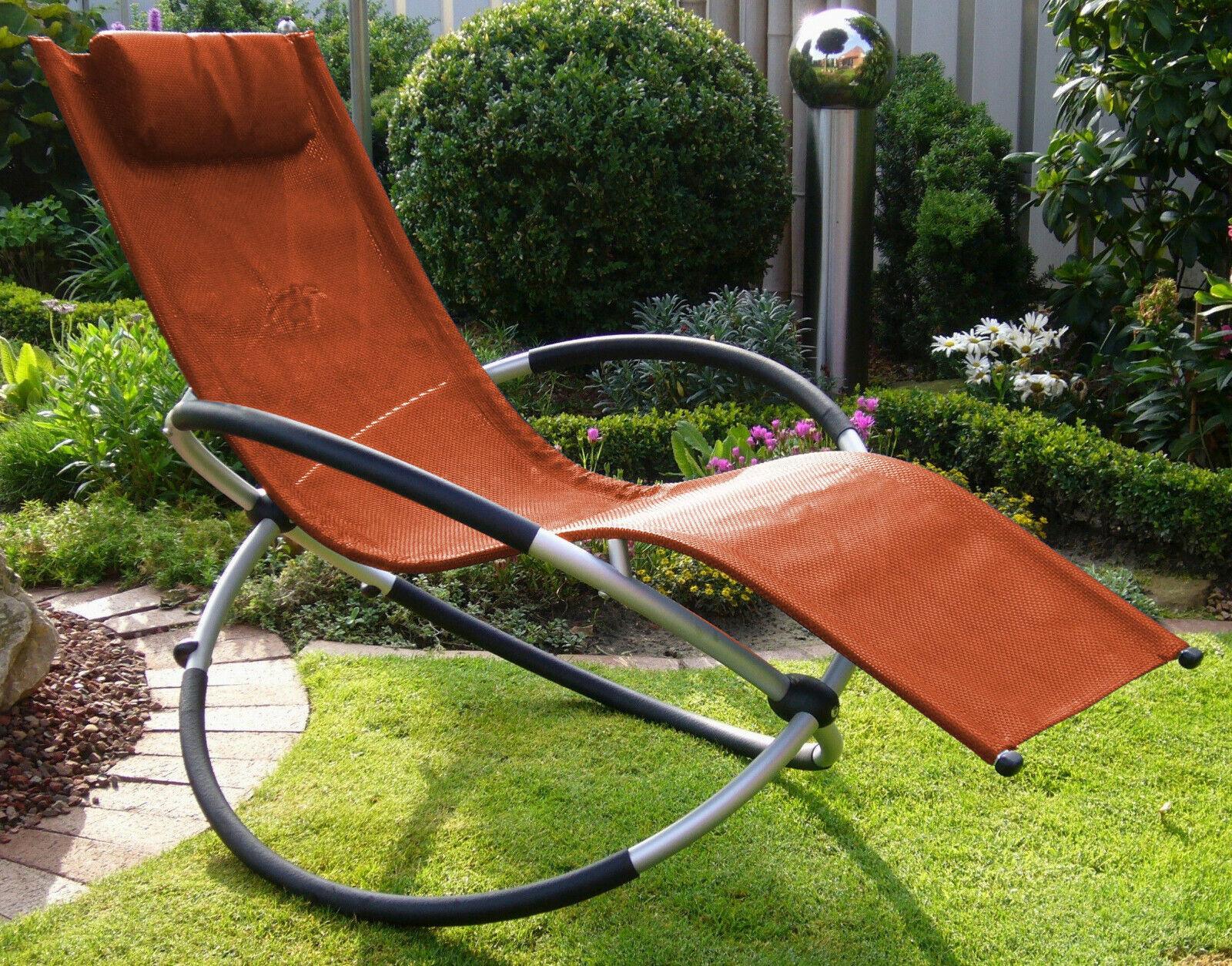Leco Schaukelliege 82635 Sonnenliege Garten Liege Sessel Schaukelstuhl Alu