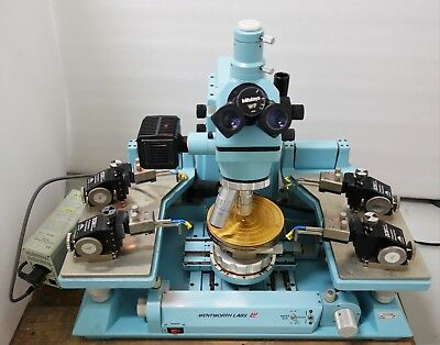 "Used, WENTWORTH 6"" PROBE STATION/ WAFER PROBER MITUTOYO MICROSCOPE w CASCADE DCM 210 for sale  Shipping to United States"