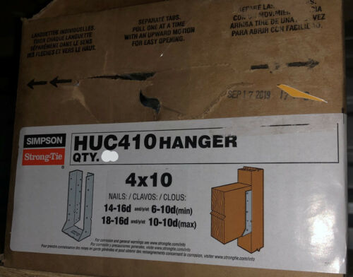 "2 PCS SIMPSON STRONG TIE HUC410 4"" X 10"" CONCEALED FACE MOUNT JOIST HANGER NEW"