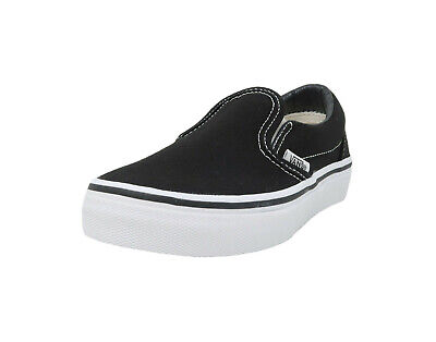 Girls Vans Slip On Shoes (VANS Classic Slip On Black White Canvas Fashion Kids Sneakers Girls Boys)