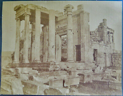 Athens, Acropolis Erechtheion vintage c.1880 albumen photo of Entrance