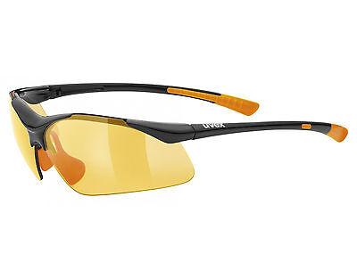 NEU! UVEX sportstyle 223 black orange Sonnen Brille Fahrrad Bike Rad Sportbrille